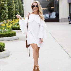 Dresses & Skirts - White Cold Shoulder Dress